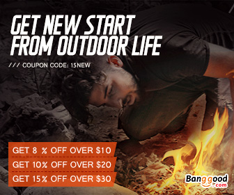 15% OFF Outdoor & Camping Products