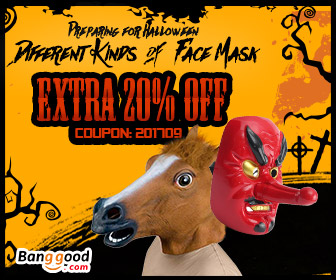 20% OFF Halloween Face Mask Promotion