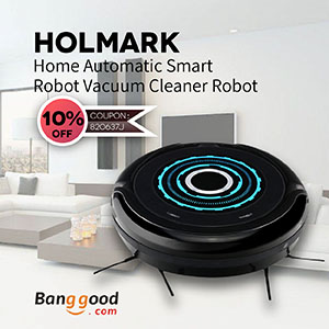 Coupon - Only US$107.99 for Holmark Home Automatic Smart Robot Vacuum Cleaner