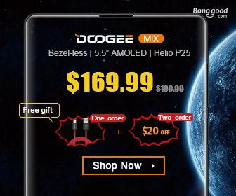 $20 OFF Doogee Mix Smartphone Promotion
