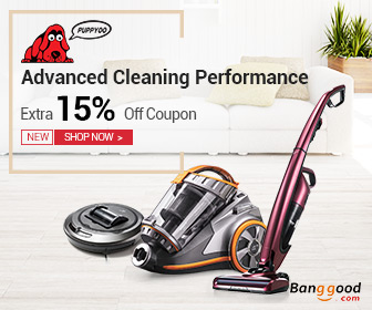 15% OFF for PUPPYOO 2-in-1 Cordless Handheld and Stick Vacuum Cleaner