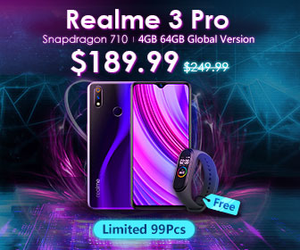 Only $189.99 OPPO Realme 3 Pro Global Version 4GB RAM 64GB ROM 4G Smartphone