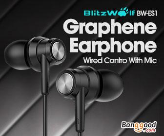 39% OFF for BlitzWolf® BW-ES1 Graphene Earphone