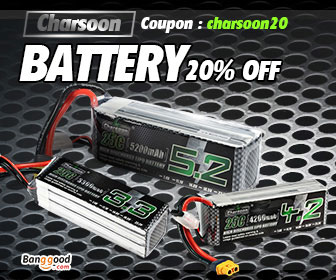 20% OFF for RC Battery Promotion