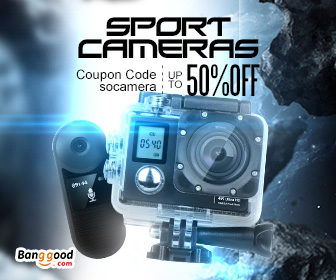 Up to 50% OFF for Sports Camera with Extra 10% OFF Coupon