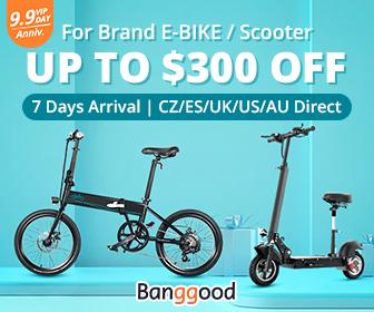 banggood.com - Up to $300 OFF for E – Bike / Scooter Promotion