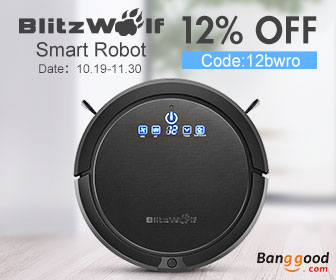 $166.31 for BlitzWolf BW-XRC600 Smart Robot Vacuum Cleaner in US Direct
