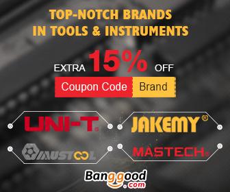 TOP-NOTCH מותגים בכלים & מכשירים: 15% הנחה מ BANGGOOD טכנולוגיה ושות ', מוגבלת