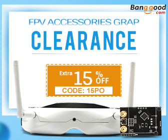 15% OFF for FPV Accessories Clearance