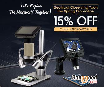 15% OFF untuk Alat Listrik Mengamati Promosi dari BANGGOOD TECHNOLOGY CO., LIMITED