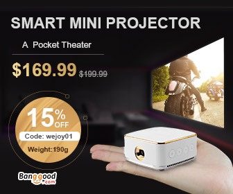 $169.99 Wejoy DL-S8+ DLP Mini Projector DDR3 8GB