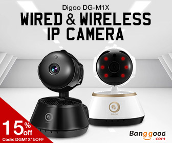 35% OFF for Digoo Wireless Wifi Night Vision Smart Home Security IP Camera