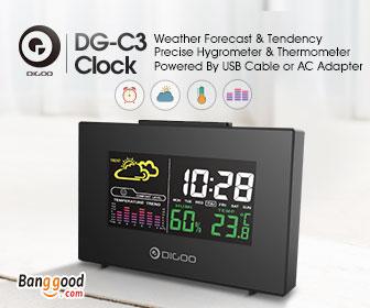 15% OFF Digoo DG-C3 Wireless Weather Forecast Station Alarm Clock