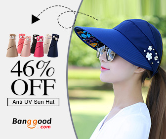 Up to 58% OFF for Summer Outdoor Anti-UV Beach Sunscreen Sun Hat