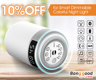10% OFF Smart Touch Wireless Bluetooth Speaker LED Bedside Lamp