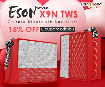 Only $33.14 for SON Style X9N TWS Wireless Bluetooth Speakers with Extra 15% OFF Coupon