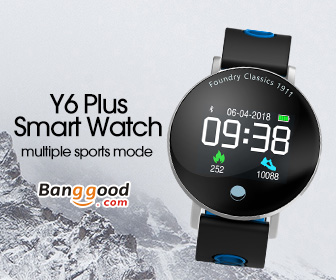 Preorder: Bakeey Y6 Plus Colorful Round Display Blood Pressure Heart Rate Stopwatch Sport Mode Smart Watch Was: $33.99 Now: $19.99 and Free Shipping.