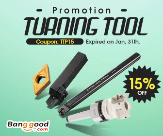 Up to 55% OFF for Turning Tools with Extra 15% OFF Coupon