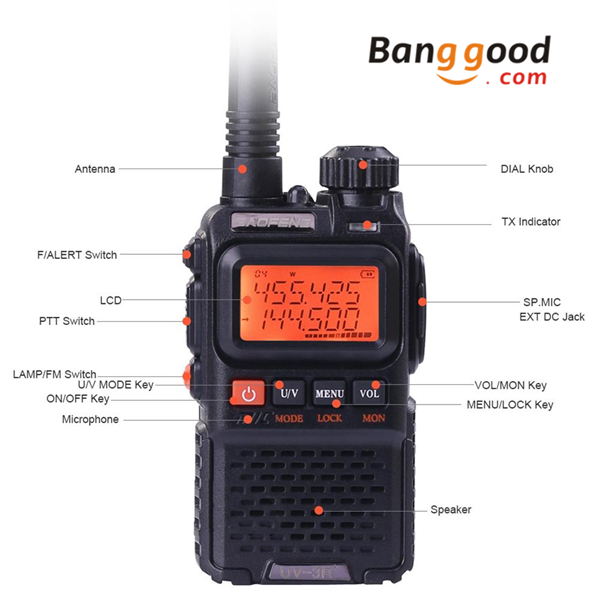 $29.91(?25.76) for Mini Walkie Talkie [UHF VHF Dual-band Dual-display]