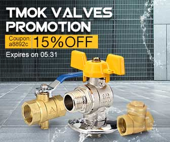 15% OFF Coupon for TMOK Brand Valves