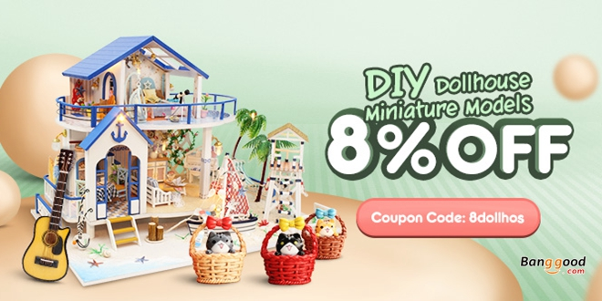 8% OFF for ALL Doll House & Miniature
