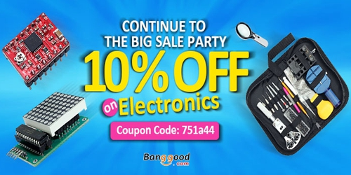 10% OFF Electronics Acc Clearance in EU Warehouse