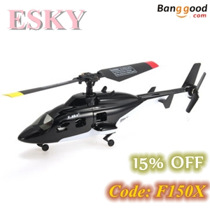 15% OFF for  2.4G 6 Axis Gyro Flybarless RC Helicopter