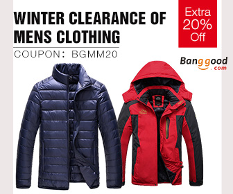 20% OFF for Mens Winter Clearence Promotion