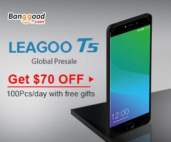 $70 OFF Leagoo T5 FHD Dual Rear Cameras Fingerprint 4GB RAM 64GB ROM 4G Smartphone