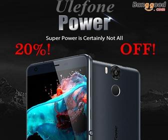 20% OFF for Ulefone Power 5.5 Inch 3GB RAM 16GB ROM 4G Smartphone