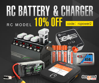 10% OFF for RC Battery & Charger Promotion