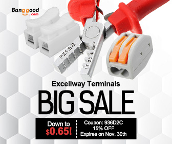 Up to 75% OFF for Excellway Terminals with Extra 15% OFF Coupon: 936D2C