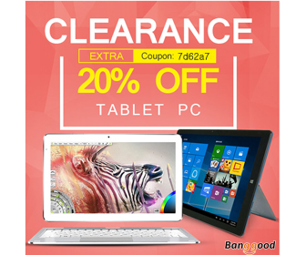 20% OFF for Tablet PC Clearance