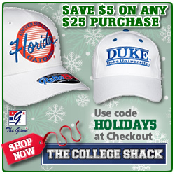 College hats at The College Shack
