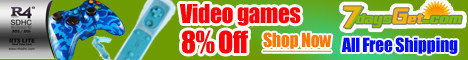 8% Off For Video Games, Free Shipping!