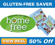 50% off Certified Gluten-Free Vanilla, Chocolate Chip and Double Chocolate Chip Mini Cookies!