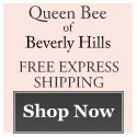 Free Express Shipping at Queen Bee of Beverly Hills