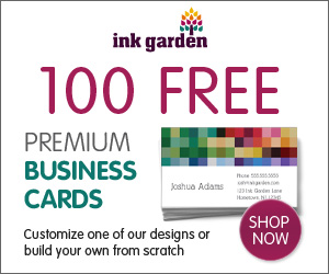 100 Free Premium Business Cards!