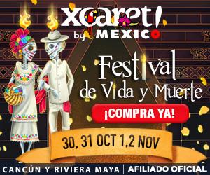 """Compra tu Entrada Xcaret para visitar del 30 de octubre al 2 de noviembre y entra GRATIS al  """"Festival de Tradiciones de Vida y Muerte."""""""