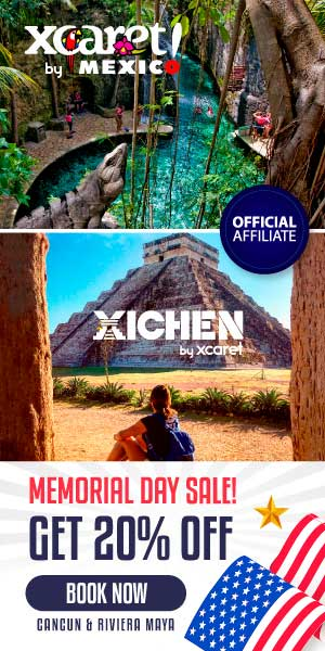 Memorial's Day at Xcaret with 20% off!