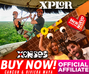 Xenses+ Xplor Park Combo of two parks: awake your senses + best ziplines at Cancun & Riviera Maya.