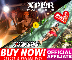 Xenses+ Xplor Fuego Park Combo of two parks: awake your senses + ziplines at night in Playa del Carmen, Mexico