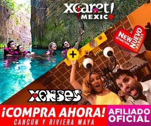 Xenses+ Xcaret Parques Combo de dos parques: desafía tus sentidos + disfruta de la cultura y folklore mexicano en Playa del Carmen, México