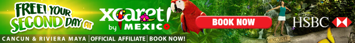 Free your second day at Xcaret with HSBC