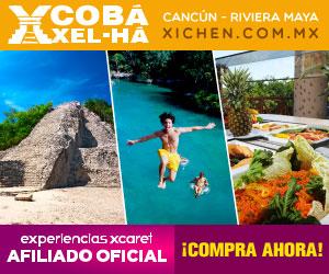 Coba-Xel-Há, Visita la piramide más grande de la Península de Yucatán, y disfruta de la gastronomia que tiene Xel-Há en el Caribe. Riviera Maya, Mexico.