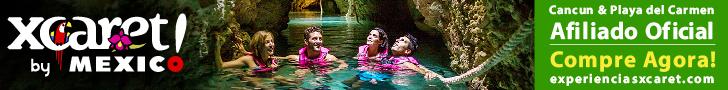 Xcaret Eco Park cultura mexicana, folclore e sabores típicos, rios subterrâneos em Cancun e Riviera Maya.