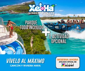 Parque Xel-Há Admisión +Actividades Opcionales + Buffet a precio especial.