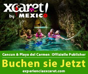 Xcaret Eco Park. Mexikanische Kultur, Folklore, typische Aromen und unterirdische Flüsse in Cancun, Mexiko.