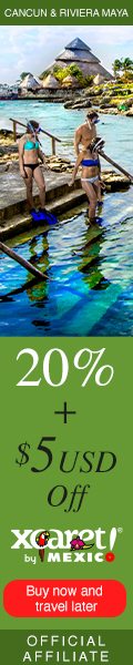Get 20% + $ 5 off purchasing your admissions to Xcaret parks
