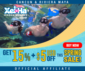15% off + $5 USD discounts for Xcaret!
